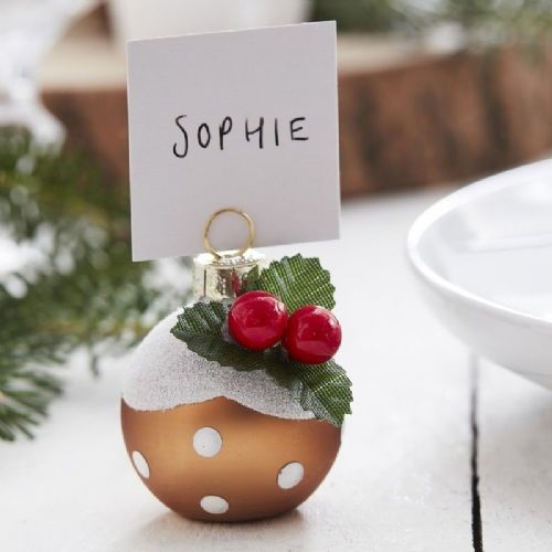 Christmas Pudding Place Card Holders 6pk